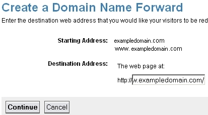 Create a Domain Forward