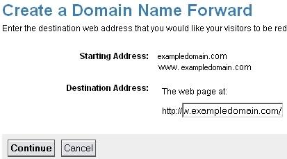 Create a Domain Forward